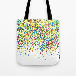 Rain of colorful confetti Tote Bag