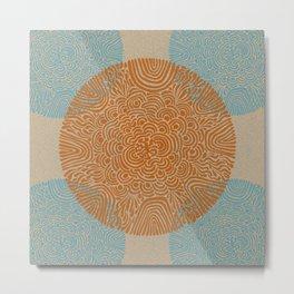 Primitive Circle Pattern Metal Print