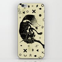 wolf iPhone & iPod Skins featuring Wolf by Anya Volk