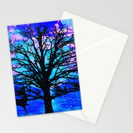 TREES AND STARS Stationery Cards