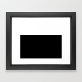 Color Block-Black and White Framed Art Print