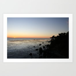 Big Sur Sunset 1 Art Print