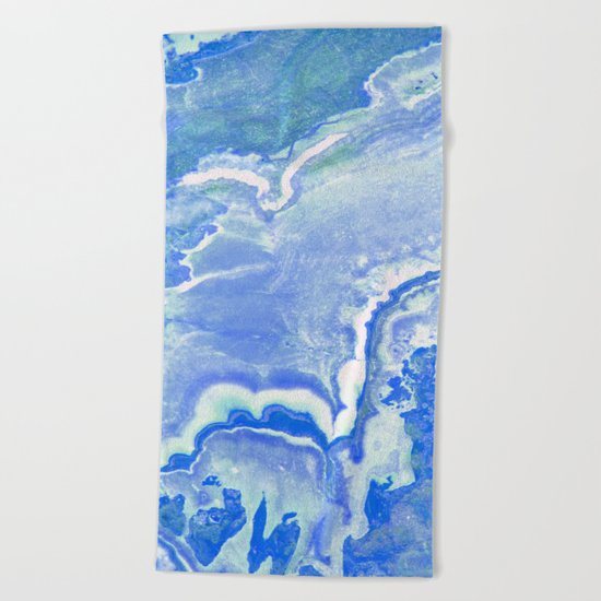 Blue onyx Beach Towel