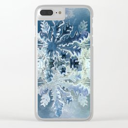 Winter Flakes Clear iPhone Case