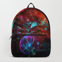 Ammonite emerging from space Backpack