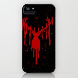 Red Stag Head #2 iPhone Case