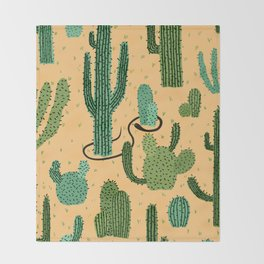 The Snake, The Cactus and The Desert Throw Blanket