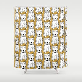 Milo the dog Shower Curtain