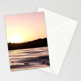 Ocean Waters // Turtle Bay Hawaii Behind the Cove Orange Pink Yellow Sunset Stationery Cards