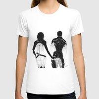 nan lawson T-shirts featuring MASS EFFECT: MIRANDA LAWSON KAIDAN ALENKO BOOTEHS by GeorgiaLe-Flay