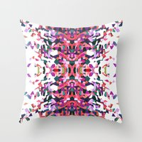 beethoven Throw Pillows featuring Beethoven abstraction by Laura Roode