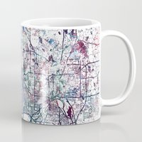 minneapolis Mugs featuring Minneapolis map by MapMapMaps.Watercolors