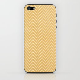 Mustard Chevron iPhone Skin