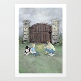 THE GATE TO HTRAE Art Print