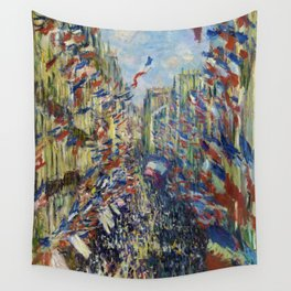 The Rue Montorgueil in Paris. Celebration of June 30, 1878 Wall Tapestry