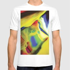 Manifestation in Yellow MEDIUM Mens Fitted Tee White