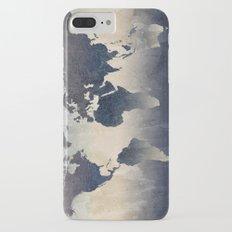 World Map Gray Slim Case iPhone 7 Plus