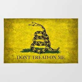 Gadsden Flag, Don't Tread On Me in Vintage Grunge Rug