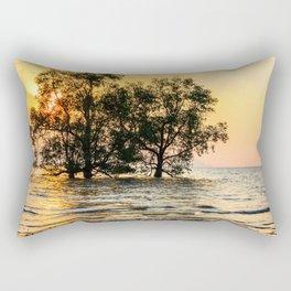 Mangrove sunrise, Phang Nga Bay, Thailand Rectangular Pillow