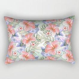 Hibiscus Aloha Stripe Rectangular Pillow