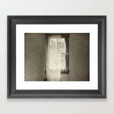 Broken Window Framed Art Print