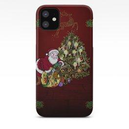 Christmas, Santa Claus iPhone Case