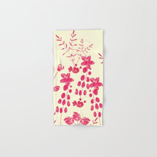 Watercolor floral garden  II Hand & Bath Towel