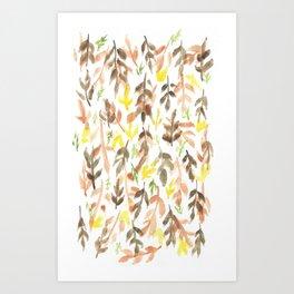 170814 Leaves Watercolour 4 Art Print