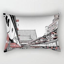 Nakamise-Dori (Asakusa, Tokyo) Rectangular Pillow