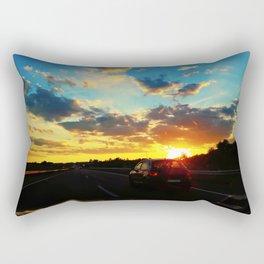 sunset highway Rectangular Pillow