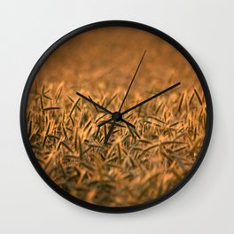 Golden grain   Goldenes Getreide Wall Clock