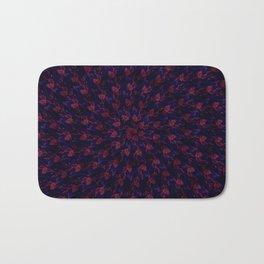Spiral Bouquet Pattern Bath Mat