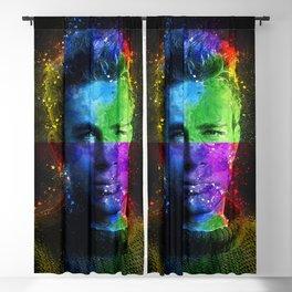 J Dean contemporary art Blackout Curtain