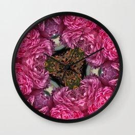 Rose Triangle Wall Clock