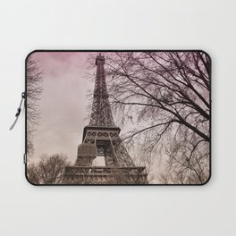 Eiffel Tower Paris in pink Laptop Sleeve