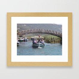 Boat Tour Along the Azmak Akyaka Turkey Framed Art Print