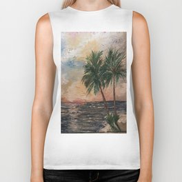 Beach Side  Oil on Canvas Biker Tank