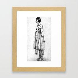 Costumed Native American Model - Vintage 1940's Framed Art Print