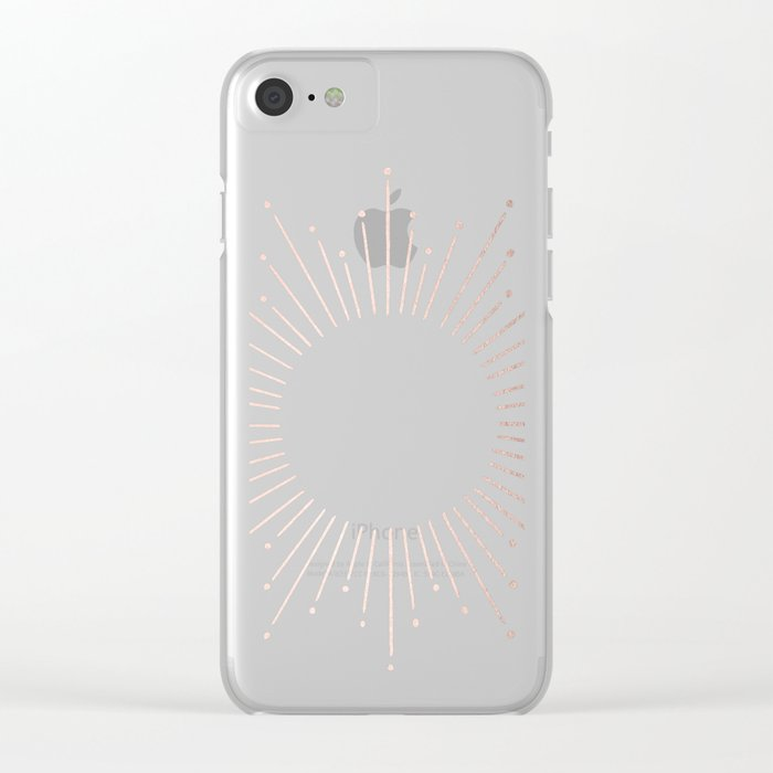 Moon Dust Rose Gold Clear iPhone Case