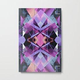 Futuristic Abstract Geometry Metal Print