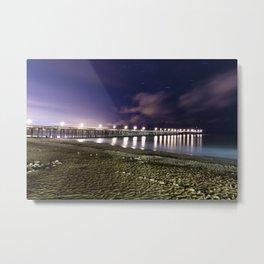 Ventura pier, CA. night landscape Metal Print