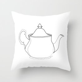 """"""" Kitchen Collection """" - Tea pot Throw Pillow"""