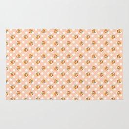 Peaches and Polkadots (Peach) Rug