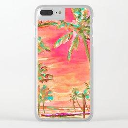 Vintage Hawaiian Beach, Mauna Lani Bay Clear iPhone Case