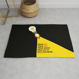 Lab No. 4 - Think Big Dhirubhai Ambani Reliance Corporate Startup Quotes Poster Rug