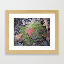 Heart Leaf Framed Art Print