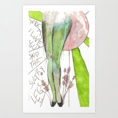 I love you gams Art Print