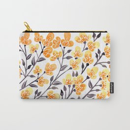 Cherry Blossoms – Yellow Palette Carry-All Pouch