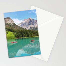 Boats on Emerald Lake Stationery Cards