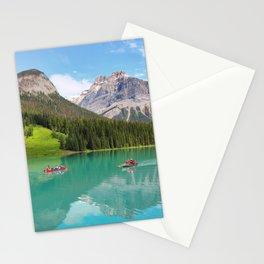 Boats on Emerald Lake Stationery Cards